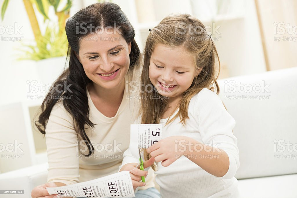 Coupon cutting stock photo