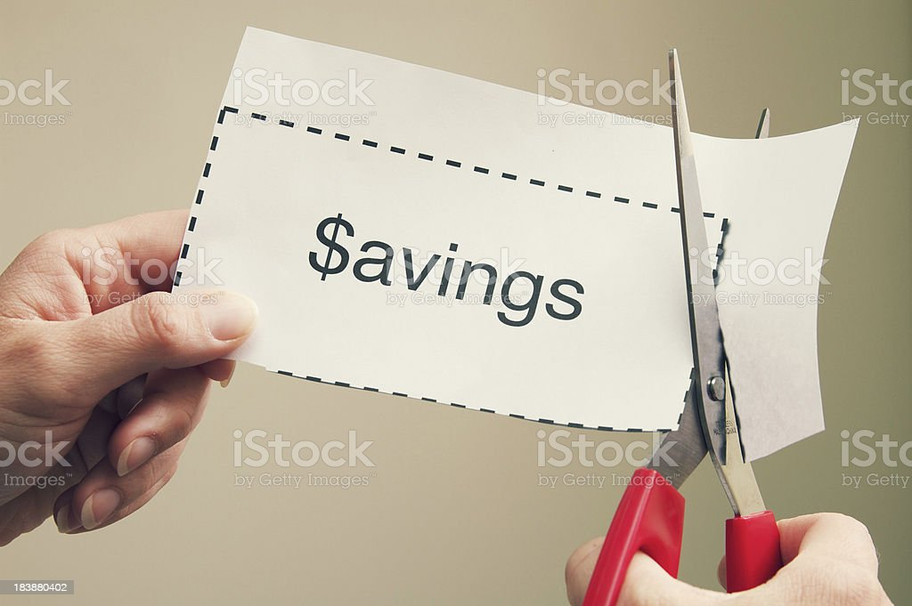 Coupon Savings stock photo