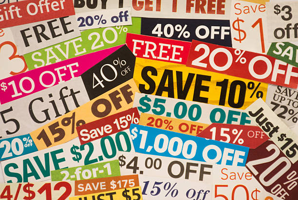 Coupon Savings stock photo