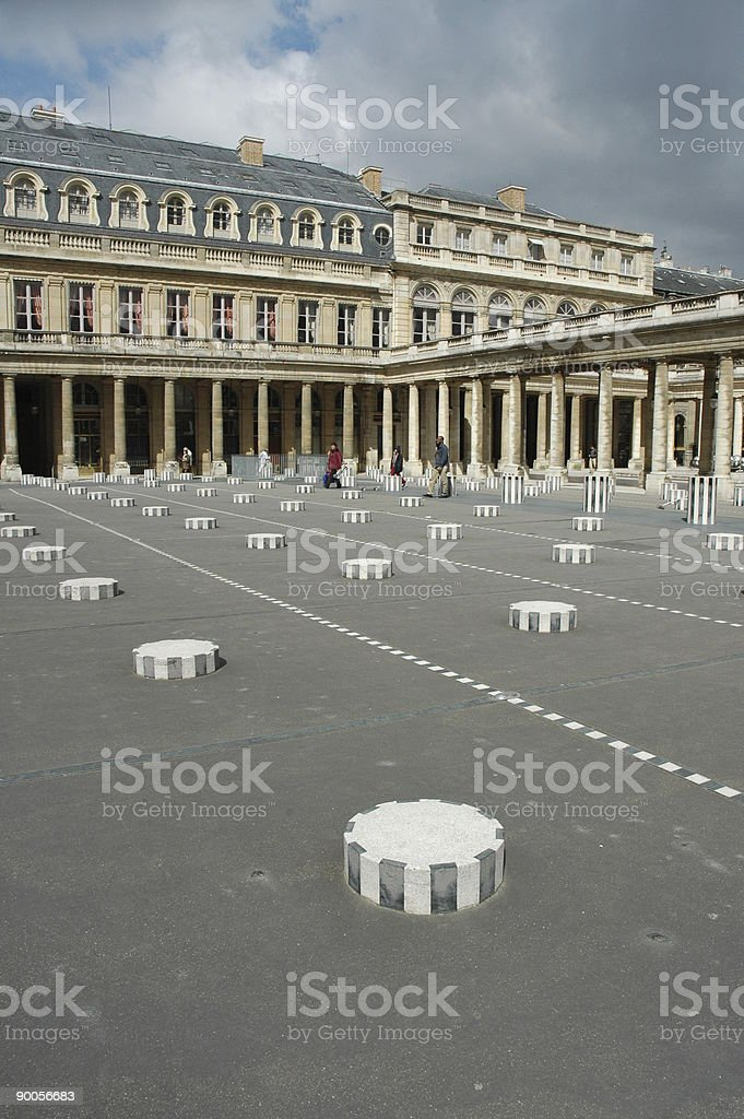 Cour d'Honneur, Palais Royal, Paris, France. stock photo