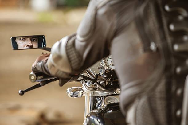 Courageous rider stock photo
