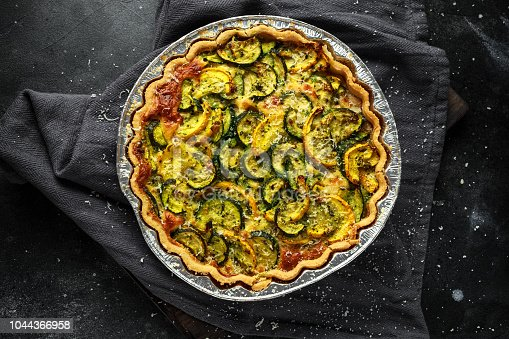 istock Courgette and pecorino cheese tart Freshly baked 1044366958