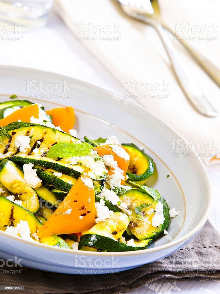 courgette,feta&mint salad stock photo