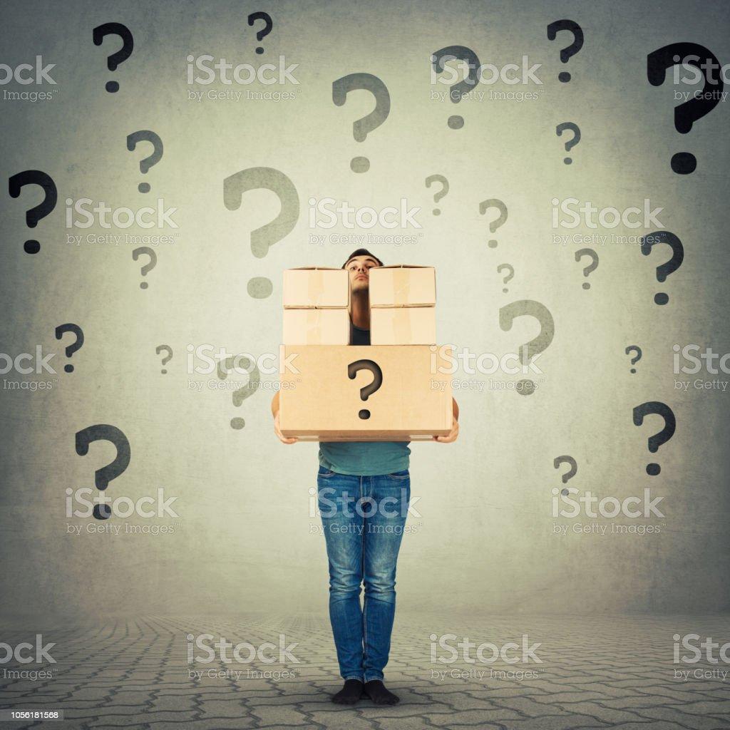 Kurier, die Identität des unbekannten Paket verbergen – Foto