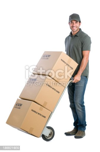 istock Courier moving boxes 135521920