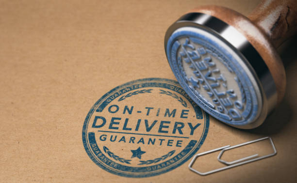 Courier Service, Image of On Time Delivery Guarantee stock photo