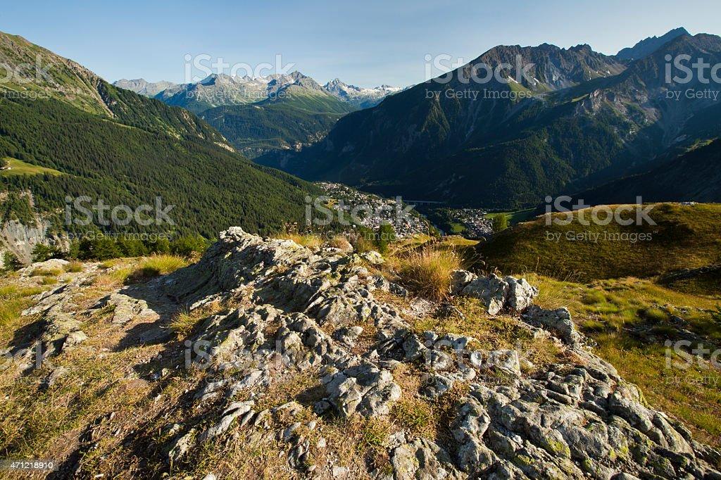Courmayeur, Aosta Valley, Italy stock photo
