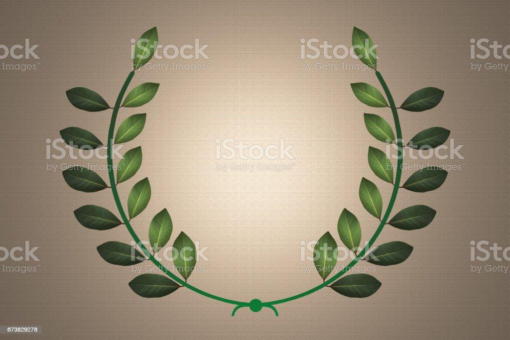 Couronne de laurier - Lauréat - Récompense stock photo