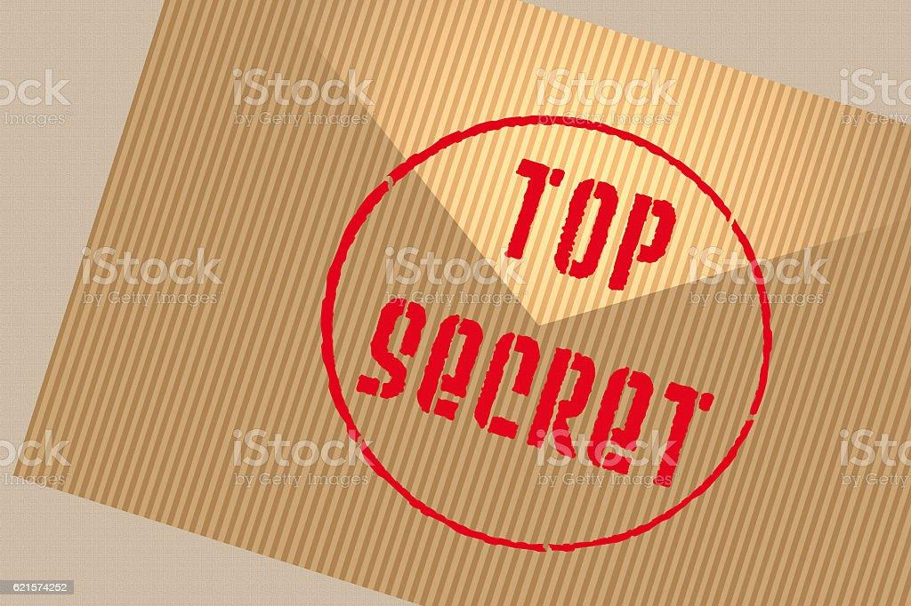 Courrier Top secret photo libre de droits