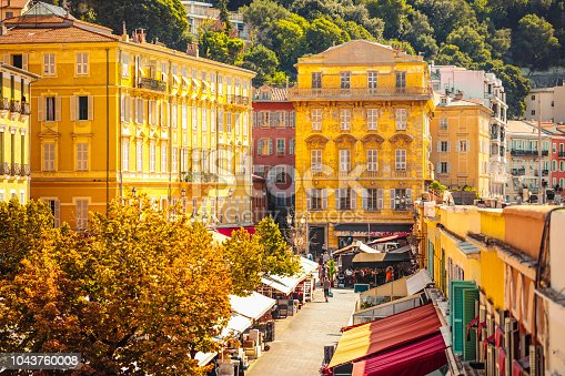 istock Cours Saleya flower market in Nice, France 1043760008