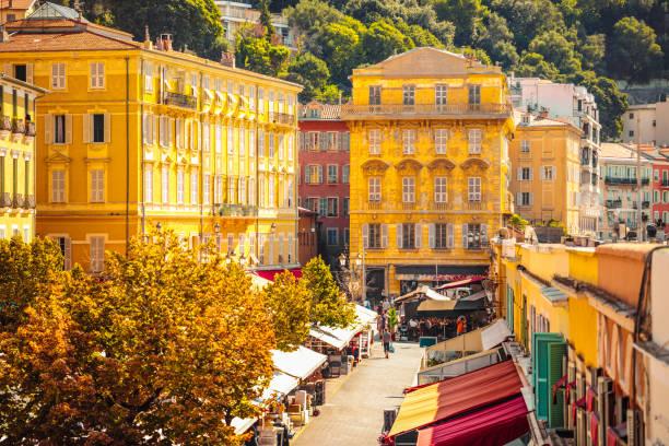 法國尼斯康斯薩勒亞花卉市場 - 法國 個照片及圖片檔