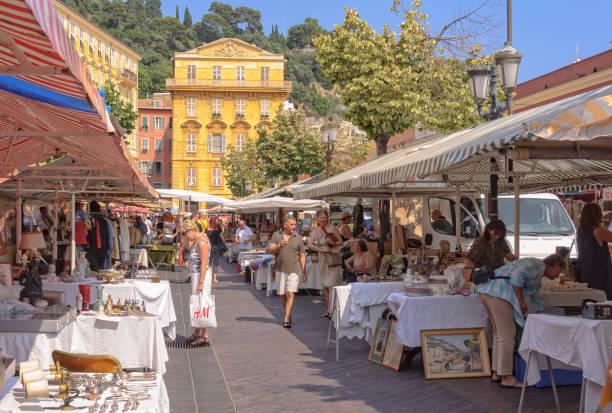 Cours Saleya market - Nice stock photo