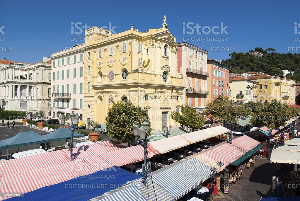 Cours Saleya, Nice, France royalty-free stock photo