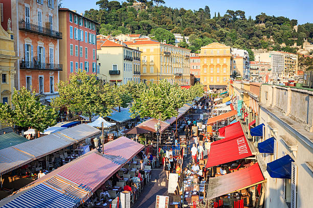 Cours Saleya, Nice, French Riviera stock photo
