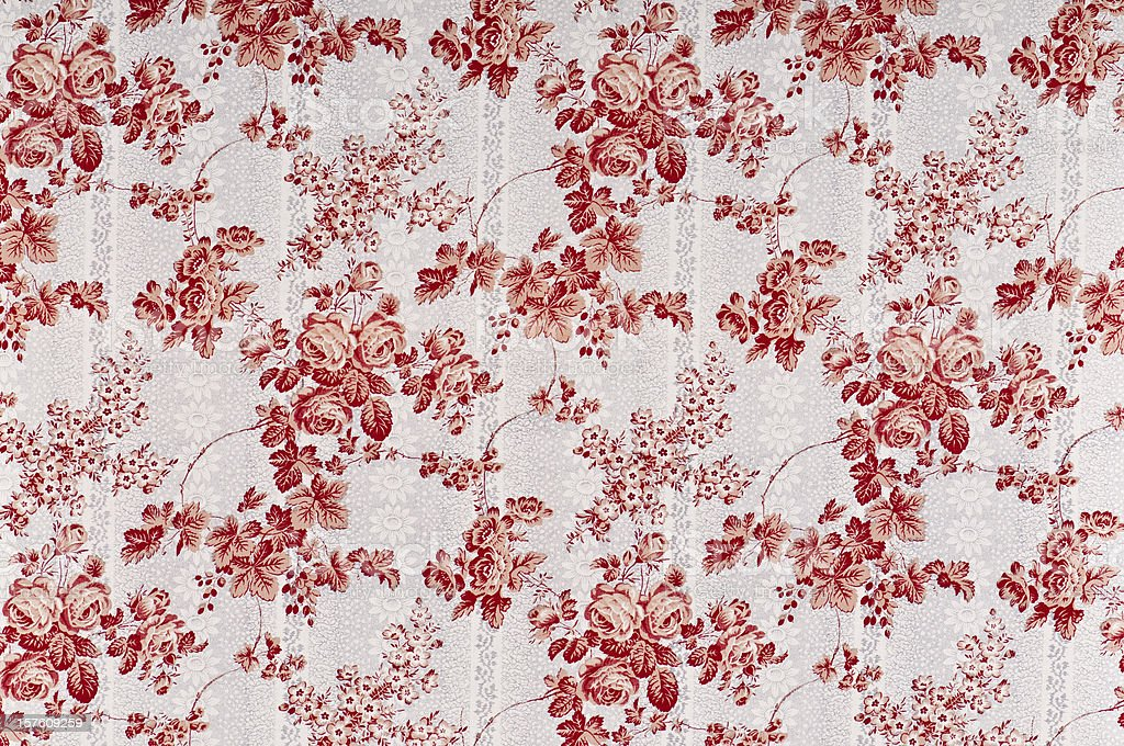 Court Floral Medium Antique Fabric royalty-free stock photo