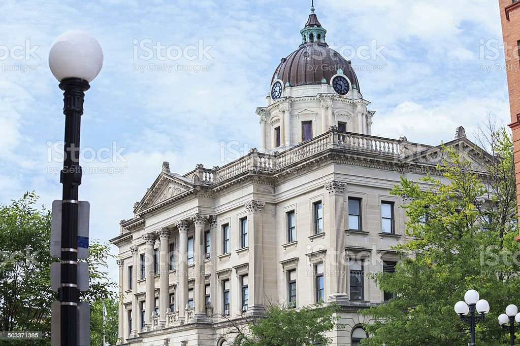 Court House Building in Bloomington, Illinois royalty-free stock photo