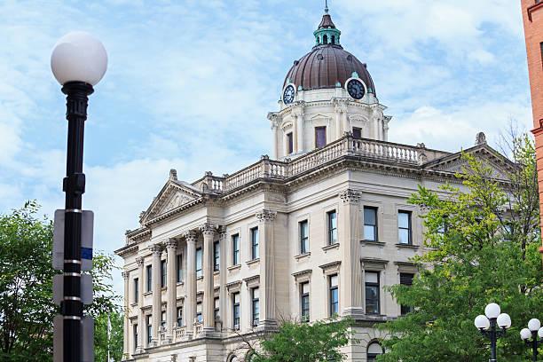 Court House Building in Bloomington, Illinois stock photo
