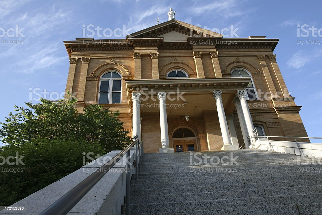 Court House on a hill. stock photo