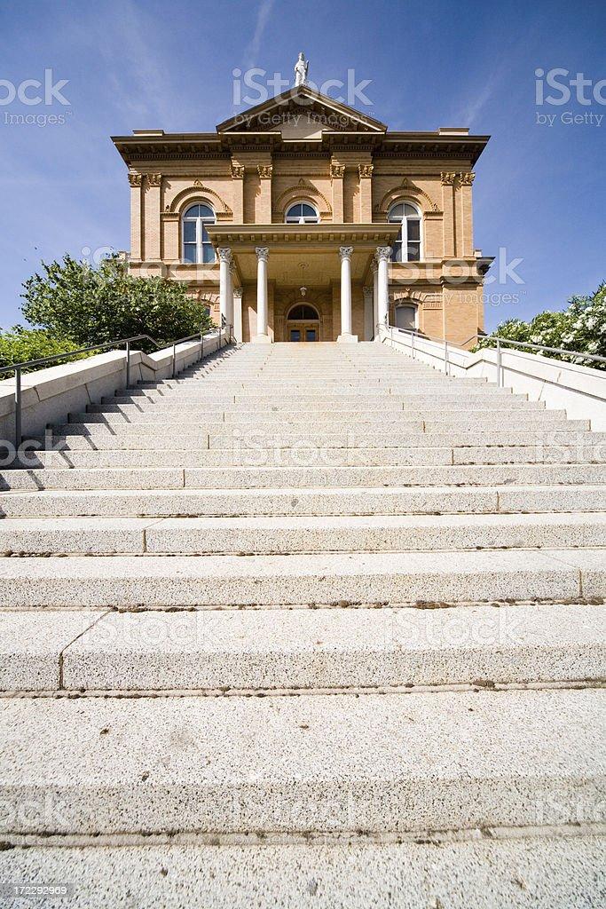 Court House Uphill stock photo
