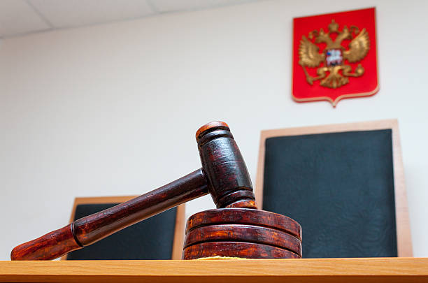 Court in Russia Court in Russia legal trial stock pictures, royalty-free photos & images