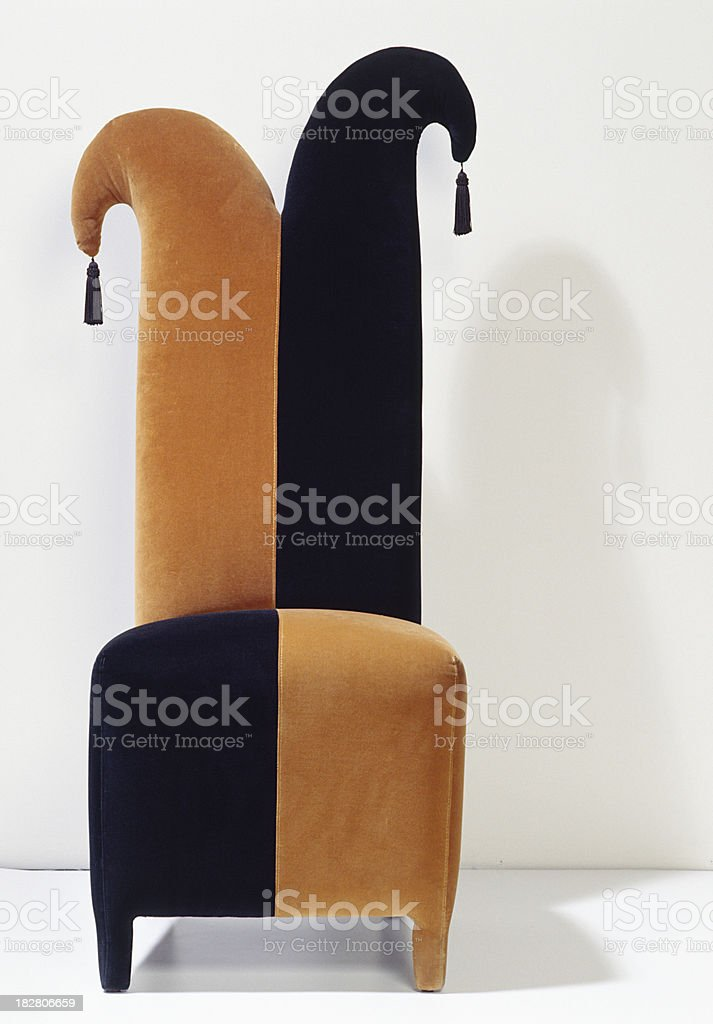 Court Jester chair royalty-free stock photo