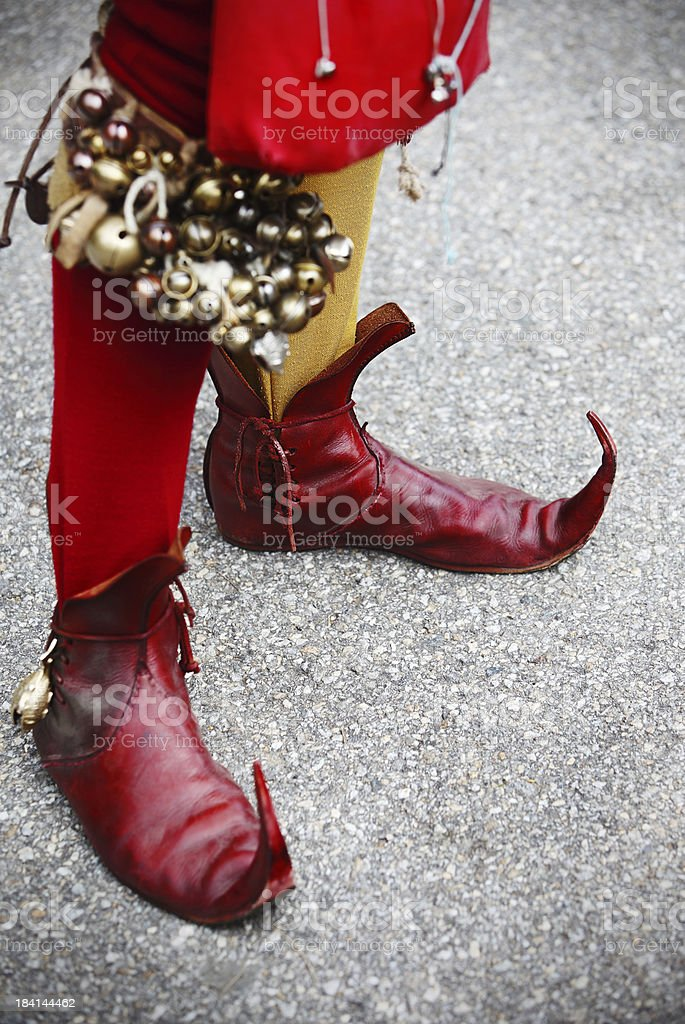 Court Jester's Boots royalty-free stock photo