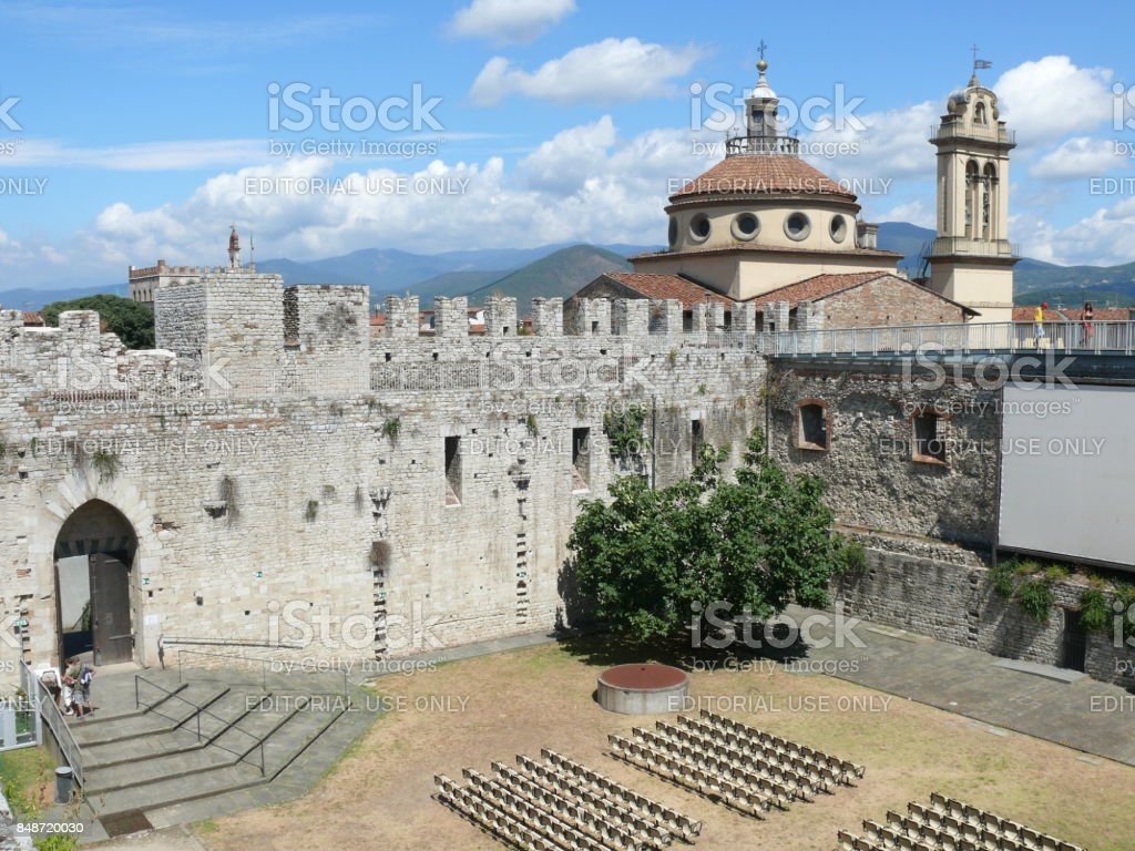 Court of Emperor's Castle in Prato stock photo