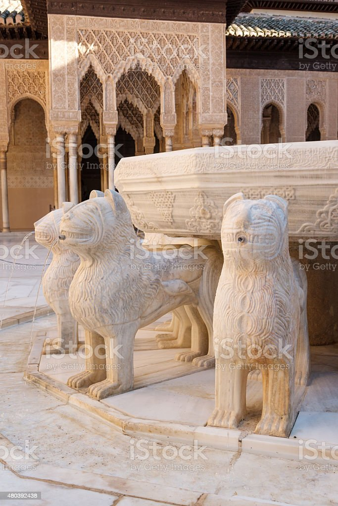 Court of the Lions stock photo