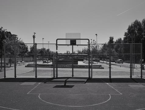 Hof Stockfoto en meer beelden van Basketbal - Teamsport