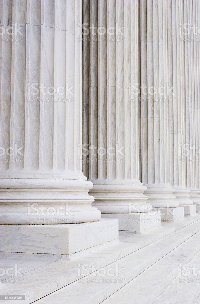 Court pillars stock photo