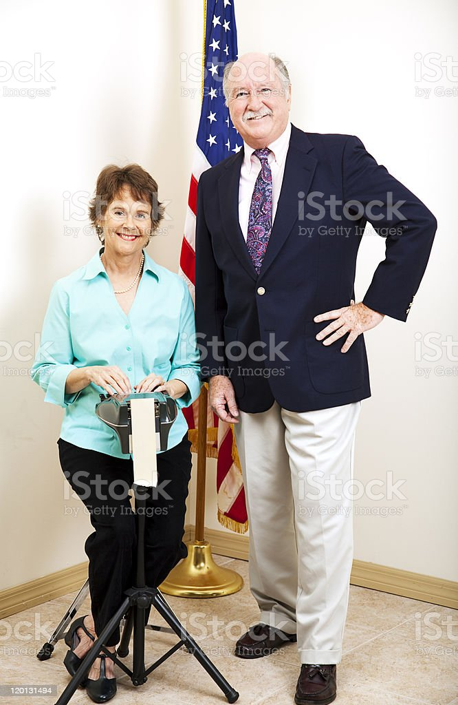 Court Reporter and Judge stock photo