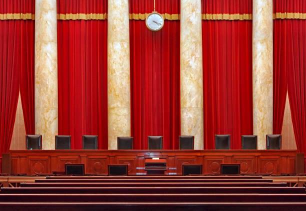 mahkeme odası iç, amerika birleşik devletleri yüksek mahkemesi - anayasa mahkemesi stok fotoğraflar ve resimler
