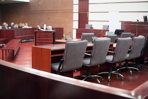 Tribunal sala - foto de stock