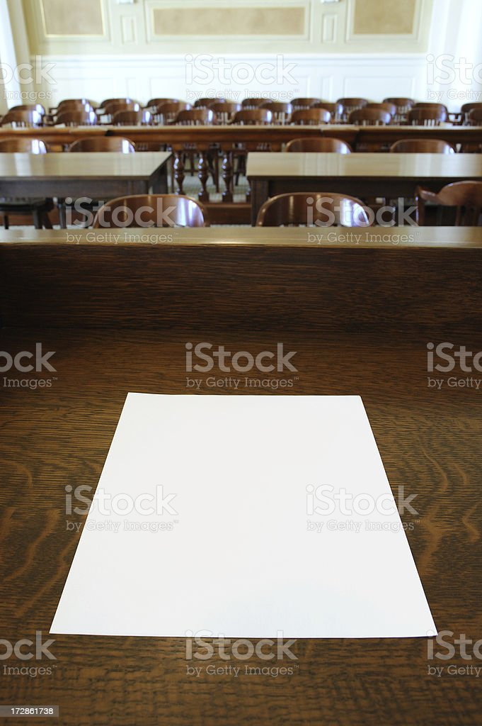 Court Room Presentation royalty-free stock photo