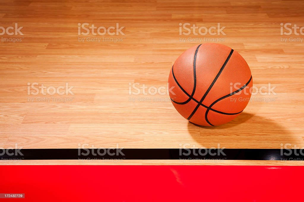 Court Side Basketball royalty-free stock photo