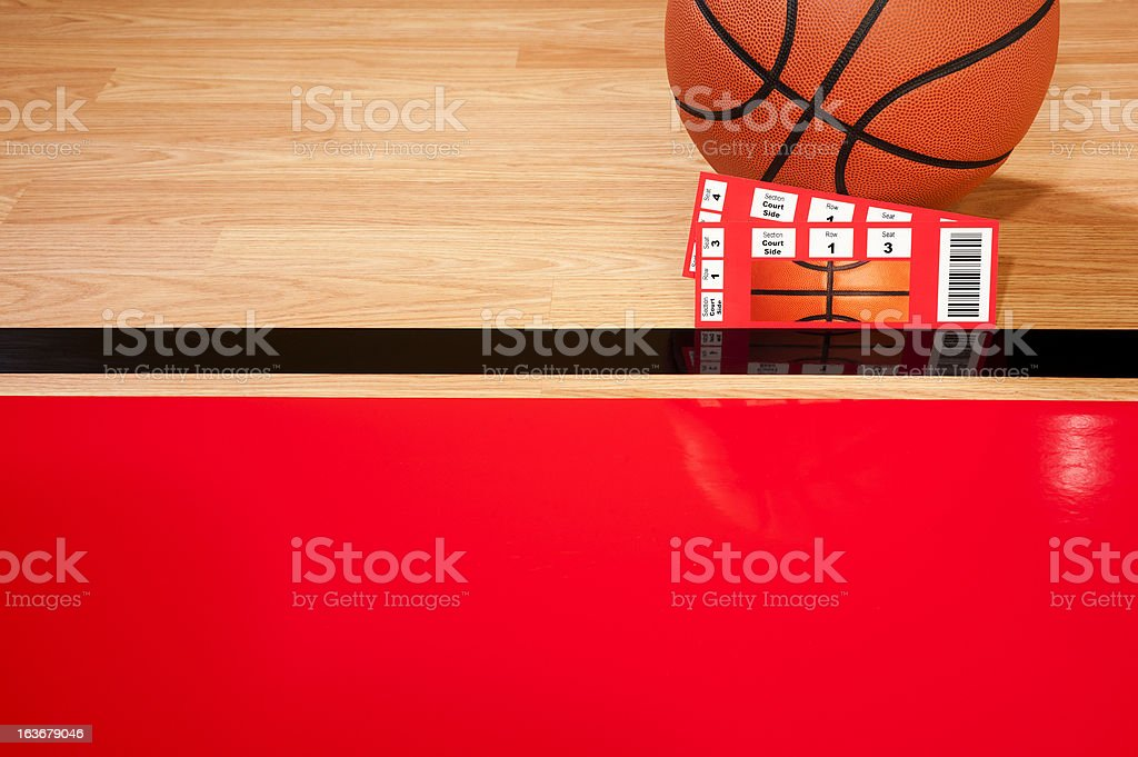 Court Side Basketball Tickets stock photo