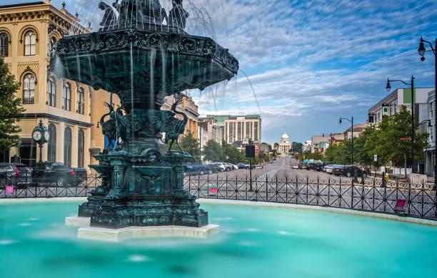Court Square Fountain - Artesian Basin in Montgomery, Alabama stock photo