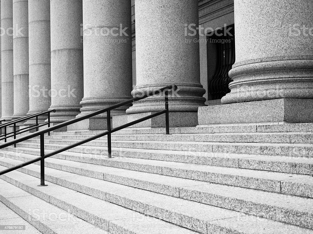 Court steps stock photo