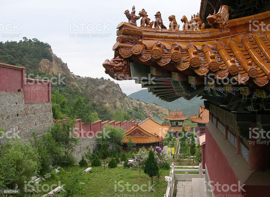Court yard of a Buddhist monastery royalty-free stock photo