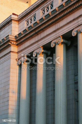 182148217istockphoto Courthouse Columns At Sunset, Dayton, Ohio 182148123