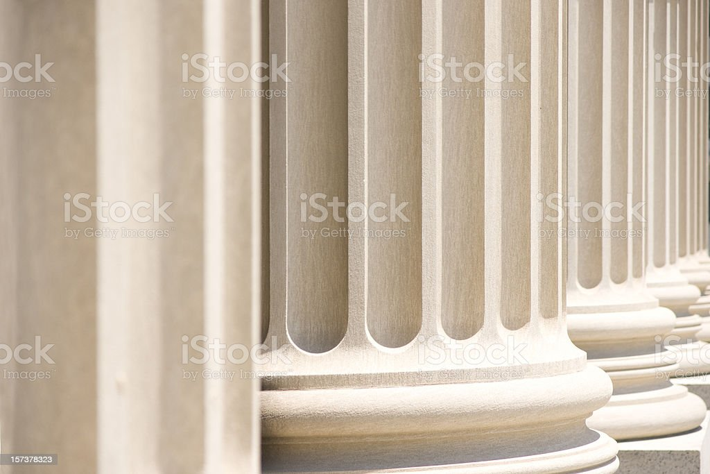Courthouse Columns royalty-free stock photo