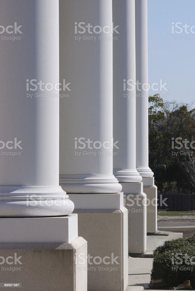 Courthouse kolumny zbiór zdjęć royalty-free