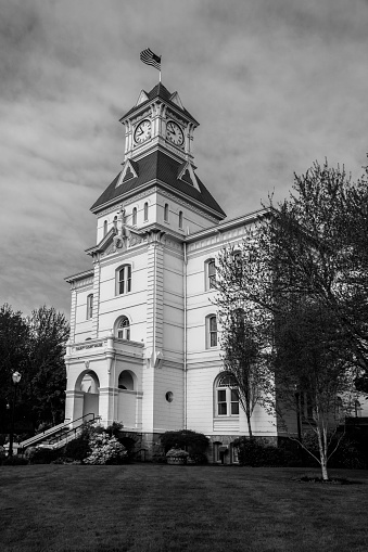 Benton County Courthouse was built in 1888 and is locater in Corvallis Oregon.