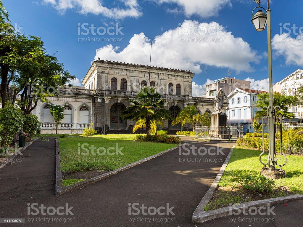Courthouse, Palais de justice. Martinique, Fort-de-France stock photo