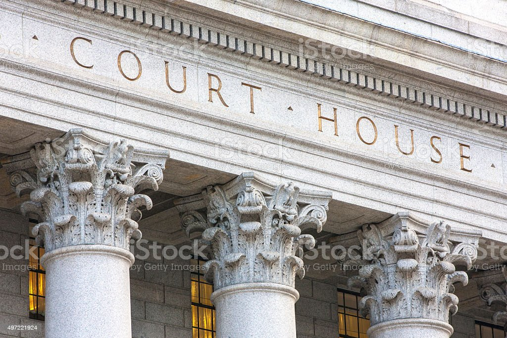 Courthouse facade. stock photo