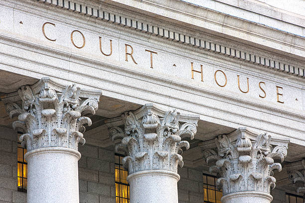 Courthouse facade. Facade of courthouse with columns. federal building stock pictures, royalty-free photos & images