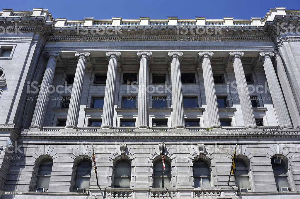 Courthouse in Baltimore stock photo