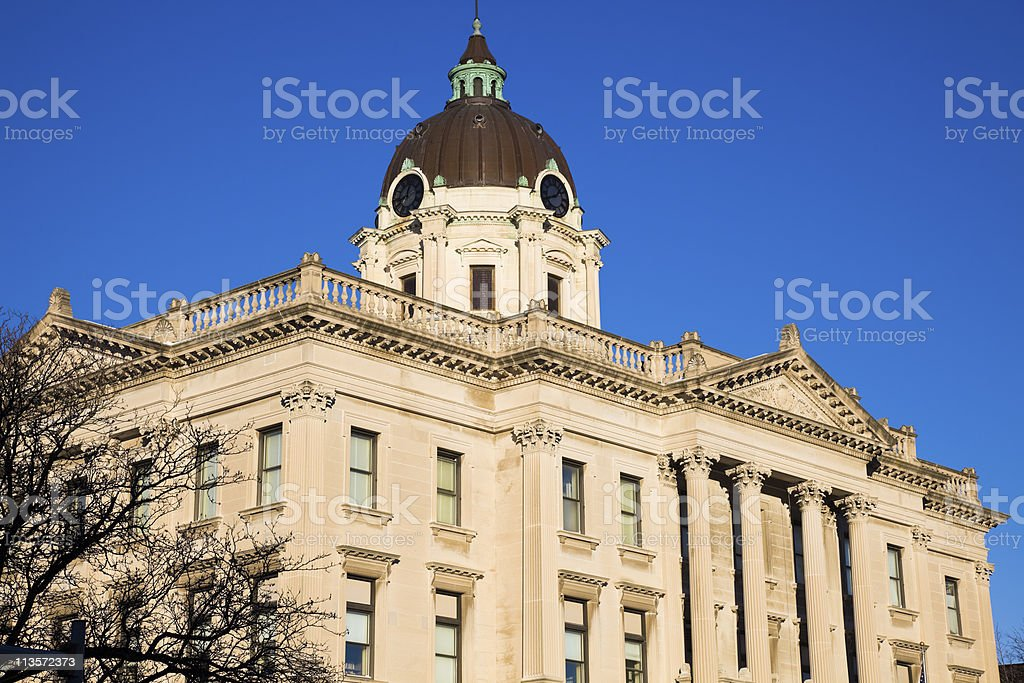 Courthouse in  Bloomington, stock photo