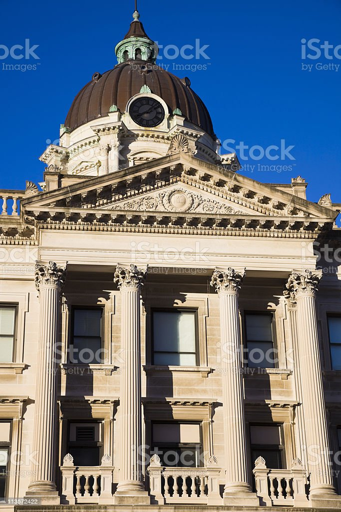 Courthouse in  Bloomington stock photo
