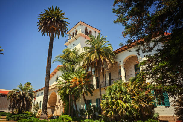 courthouse in Santa Barbara, California Old courthouse in Santa Barbara, California santa barbara california stock pictures, royalty-free photos & images